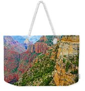 View Six From Walhalla Overlook On North Rim Of Grand Canyon-arizona Weekender Tote Bag