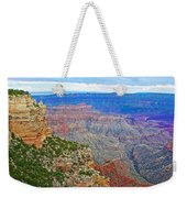View Three From Walhalla Overlook On North Rim Of Grand Canyon-arizona  Weekender Tote Bag