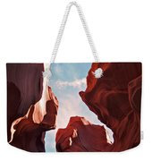 View To The Heavens From Antelope Canyon In Arizona Weekender Tote Bag