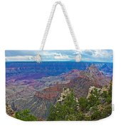 View Two From Walhalla Overlook On North Rim Of Grand Canyon-arizona Weekender Tote Bag