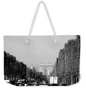 View Up The Champs Elysees Towards The Arc De Triomphe In Paris France  Weekender Tote Bag