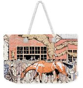 Viewing The Racehorse In The Paddock Weekender Tote Bag