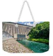 Views Of Man Made Dam At Lake Fontana Great Smoky Mountains Nc Weekender Tote Bag