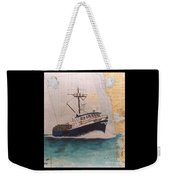 Vigilant Crab Fishing Boat Nautical Chart Art Weekender Tote Bag