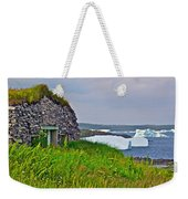 Viking House On Fishing  Point In Saint Anthony-nl Weekender Tote Bag