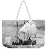 Vikings Cross The North Sea Weekender Tote Bag