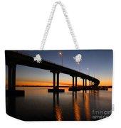 Vilano Bridge At Dusk St Augustine Florida Weekender Tote Bag