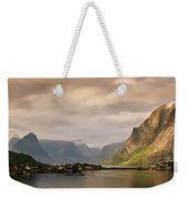 Village And Fjord Among Mountains Weekender Tote Bag