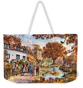 Village In Autumn Weekender Tote Bag
