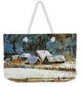 Village In Winter Weekender Tote Bag