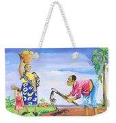 Village Life In Cameroon 01 Weekender Tote Bag