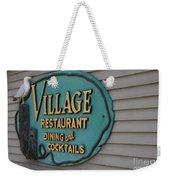 Village Restaurant Weekender Tote Bag