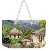 Village Scene In The Mountains Weekender Tote Bag