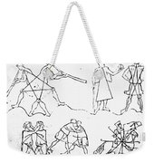 Villard De Honnecourt (c1225-c1250) Weekender Tote Bag