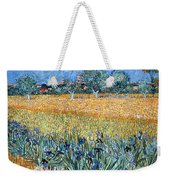 Field With Flowers Near Arles Weekender Tote Bag
