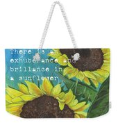 Vince's Sunflowers 1 Weekender Tote Bag by Debbie DeWitt