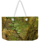 Vine On Tree Bark Weekender Tote Bag