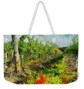 Vineyard And Poppies Weekender Tote Bag