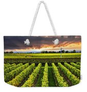 Vineyard At Sunset Weekender Tote Bag