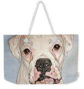 Vinnie The White Boxer Weekender Tote Bag