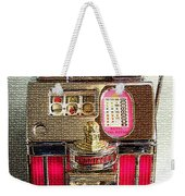 Vintage 10 Cent Slot Machine Weekender Tote Bag