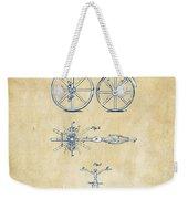 Vintage 1866 Velocipede Bicycle Patent Artwork Weekender Tote Bag