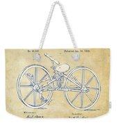 Vintage 1869 Velocipede Bicycle Patent Artwork Weekender Tote Bag
