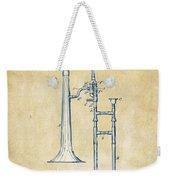 Vintage 1902 Slide Trombone Patent Artwork Weekender Tote Bag