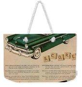 Vintage 1954 Ford Classic Car Advert Weekender Tote Bag