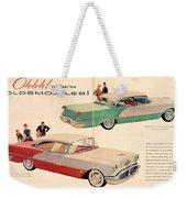 Vintage 1956 Oldsmobile Car Advert Weekender Tote Bag