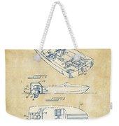 Vintage 1972 Chris Craft Boat Patent Artwork Weekender Tote Bag
