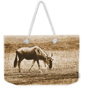 Vintage African Safari Wildbeest Weekender Tote Bag