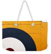 Vintage Airplane Abstract Design Weekender Tote Bag by Carol Leigh