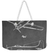 Vintage Airplane Patent Weekender Tote Bag