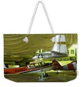 Vintage Airplanes Display Weekender Tote Bag
