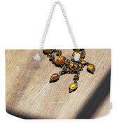 Vintage Amber Necklace Weekender Tote Bag