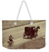 Vintage Amish Buggy And Bicycle Weekender Tote Bag