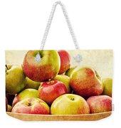 Vintage Apple Basket Weekender Tote Bag