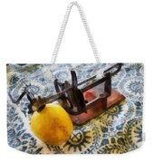 Vintage Apple Peeler Weekender Tote Bag