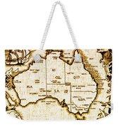 Vintage Australia Map Weekender Tote Bag