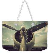 Vintage B-17 Flying Fortress Propeller Weekender Tote Bag
