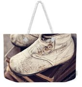 Vintage Baby Boots And Books Weekender Tote Bag