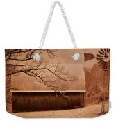 Vintage Barn And Windmill Winter Weekender Tote Bag