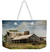 Barn -vintage Barn With Brick Silo - Luther Fine Art Weekender Tote Bag