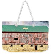 Vintage Barn - Wood And Stone Weekender Tote Bag