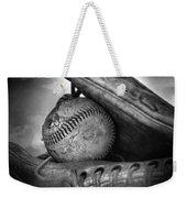 Vintage Baseball And Glove Weekender Tote Bag