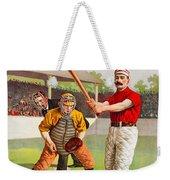 Vintage Baseball Print Weekender Tote Bag