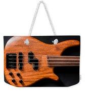Vintage Bass Guitar Body Weekender Tote Bag