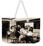 Vintage Beauty Parlor Weekender Tote Bag