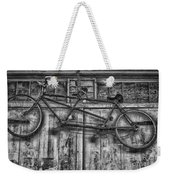 Vintage Bicycle Built For Two In Black And White Weekender Tote Bag
